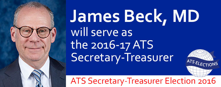 2016 ATS Secretary-Treasurer James Beck, MD
